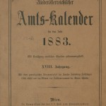 Amtskalender NÖ 1883